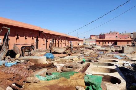 Curtumes de Marraquexe - Marrocos © Viaje Comigo