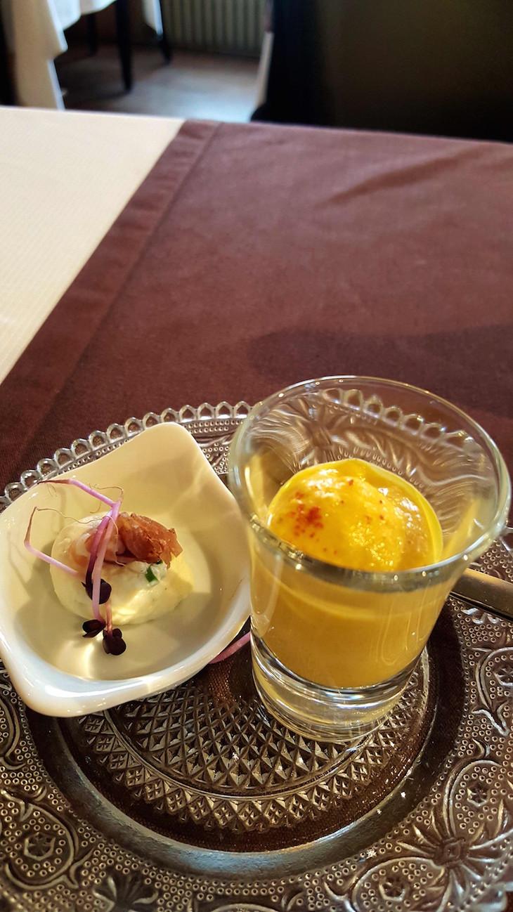 Boas vindas do chef no Restaurante La Creusille - Blois © Viaje Comigo