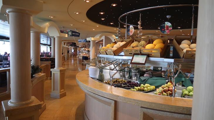 Buffet do cruzeiro MSC Magnifica © Viaje Comigo
