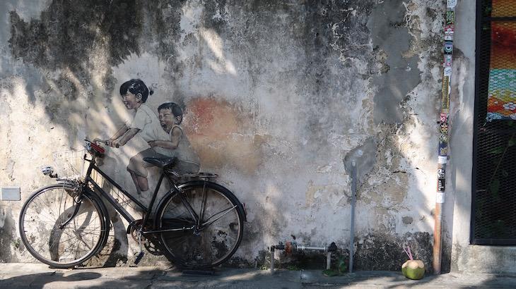Street Art em George Town, Penang, Malásia © Viaje Comigo