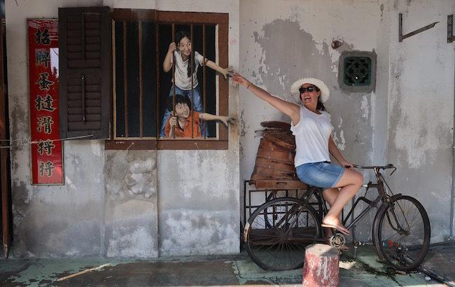 Street Art em George Town, Malásia © Viaje Comigo