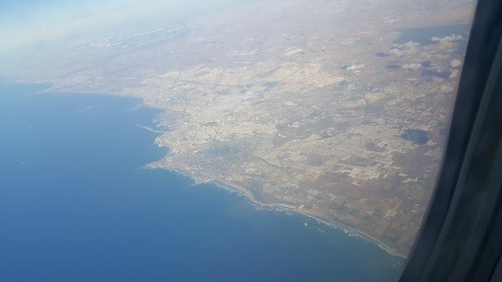 Casablanca vista do avião da Royal Air Maroc © Viaje Comigo