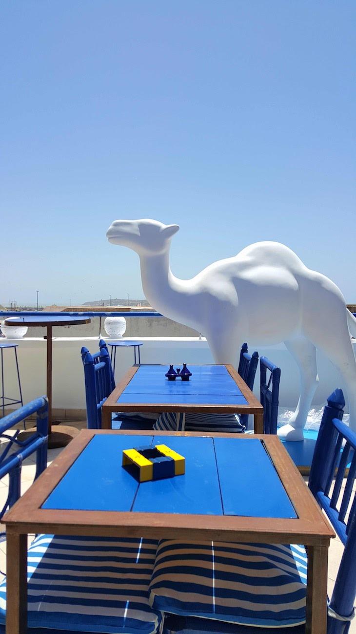 Esplanada do Restaurante Taros Essaouira - Marrocos © Viaje Comigo