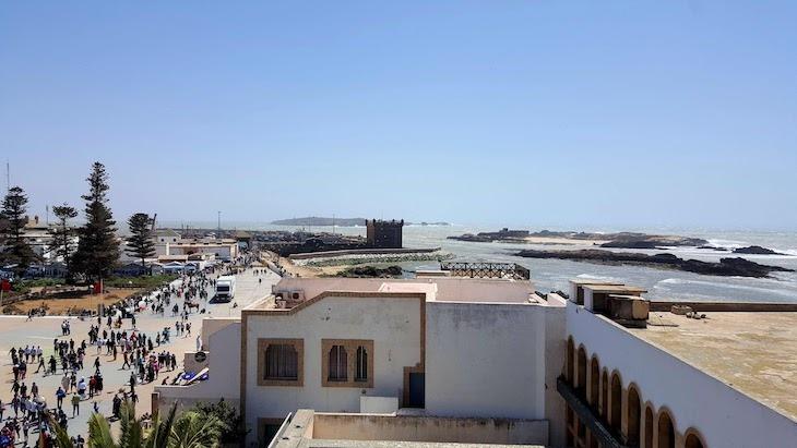 Vista do Restaurante Taros Essaouira - Marrocos © Viaje Comigo