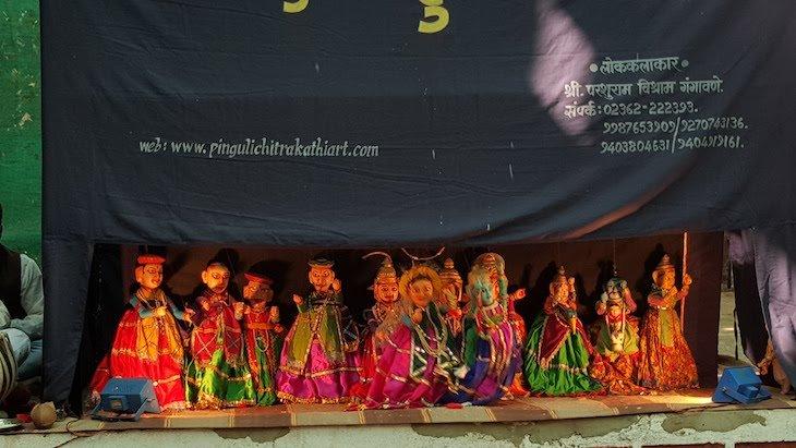 Marionetas em Pinguli -Sindhudurg - India © Viaje Comigo