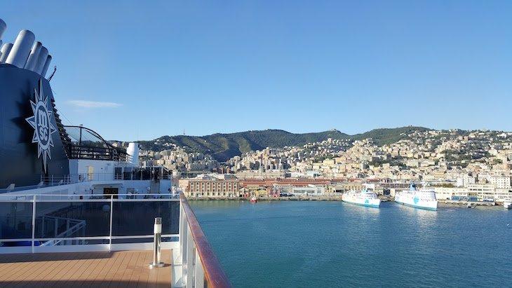 Adeus a Génova - MSC Magnifica © Viaje Comigo