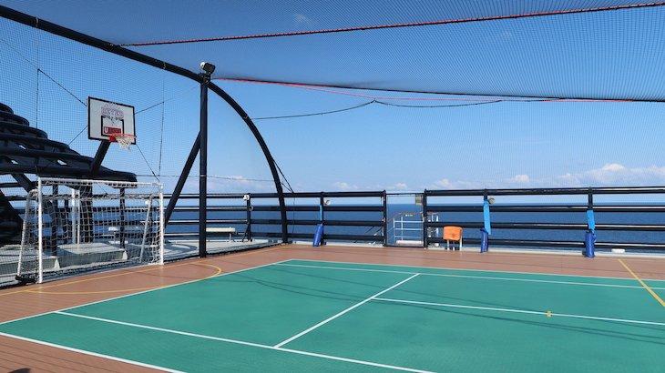 Campos de desportos no MSC Magnifica © Viaje Comigo