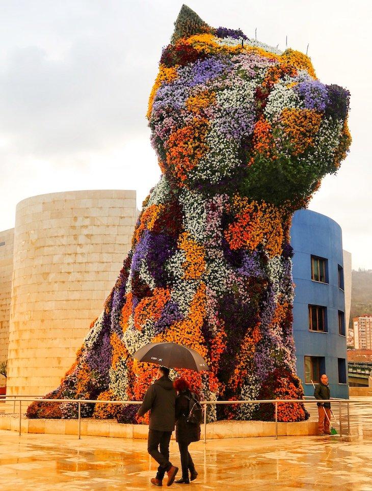 Puppy no Museu Guggenheim Bilbao, Bilbau © Viaje Comigo
