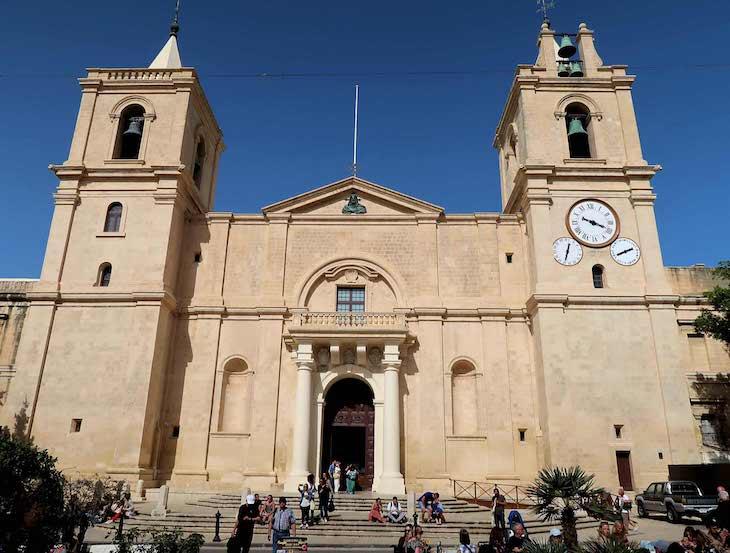 Fachada da Co Catedral de S. João - Valetta - Malta © Viaje Comigo
