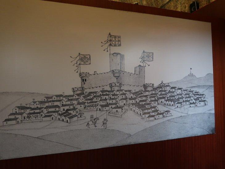 Desenho do castelo no Museu Histórico-Militar - Almeida - Portugal © Viaje Comigo