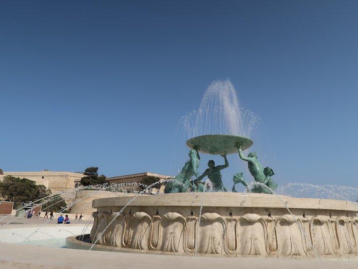 Fonte Triton, Valetta, Malta © Viaje Comigo