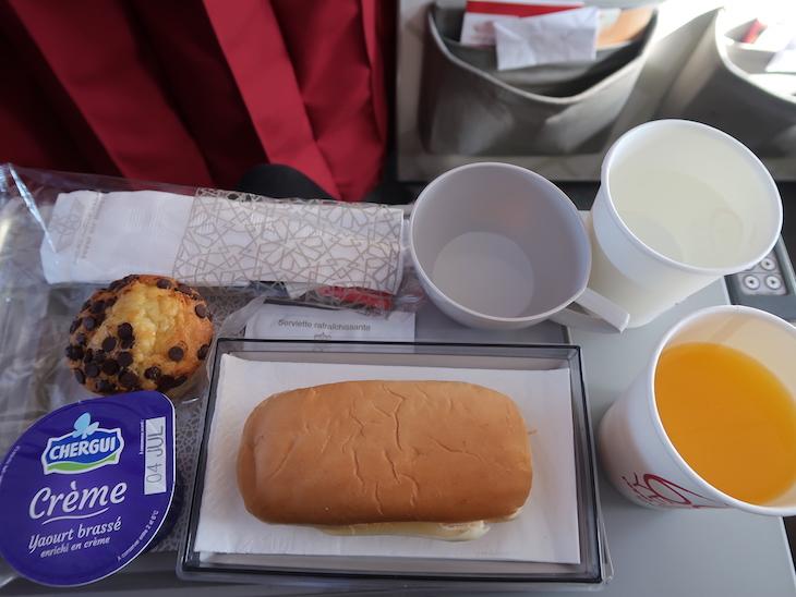 Refeições a bordo da RAM - Royal Air Maroc © Viaje Comigo