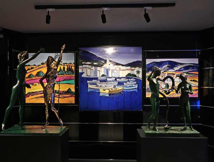 Galeria de arte no MSC Seaview © Viaje Comigo