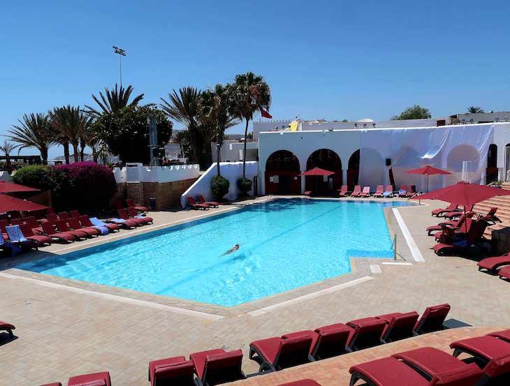 Nadar na Piscina do Club Med Agadir - Marrocos © Viaje Comigo