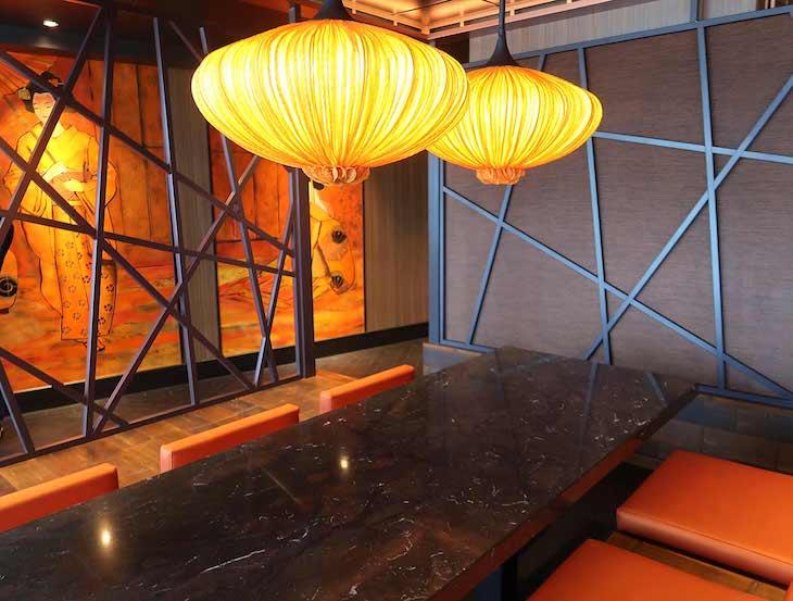 Restaurante de Roy Yamaguchi - MSC Seaview © Viaje Comigo