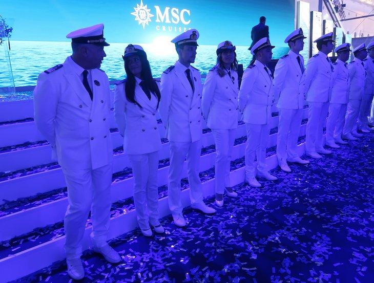Cerimónia de batismo do MSC Seaview © Viaje Comigo