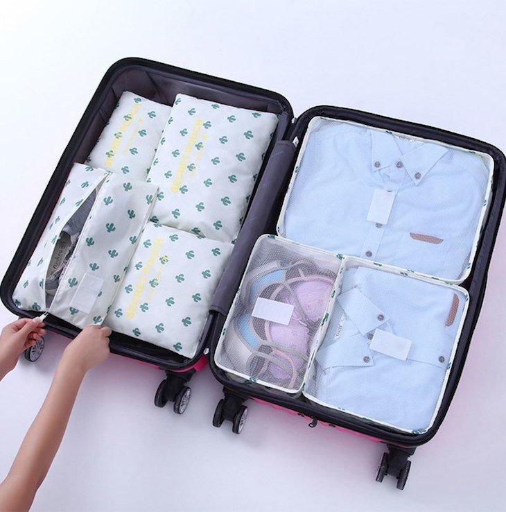 Sete peças para organizar a mala © Aliexpress