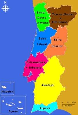 Regiões de Portugal - DR