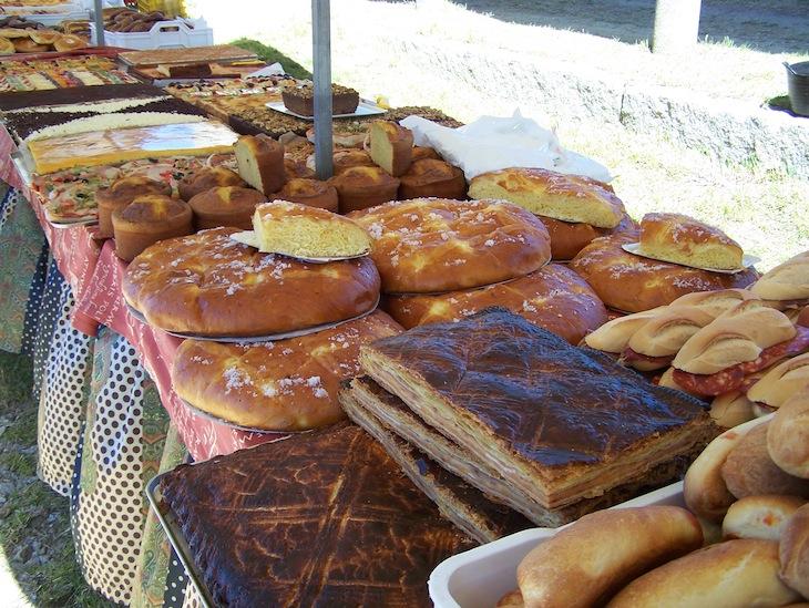 Mercado no desembarque dos Vikings em Catoira, na Galiza