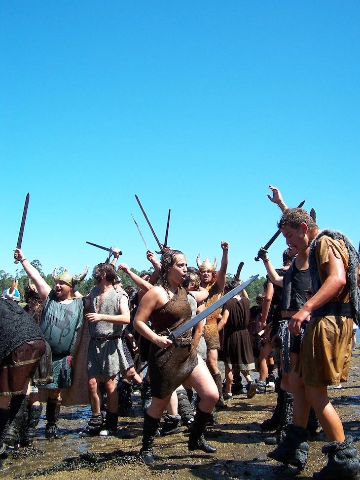 Vikings em Catoira, na Galiza
