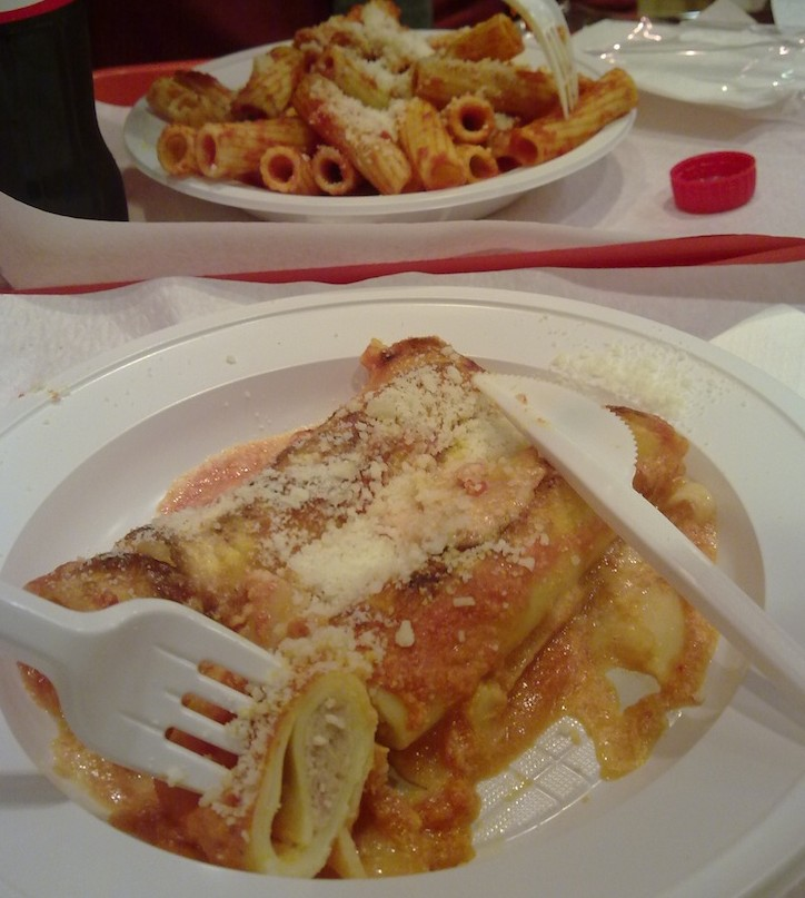 Pastas e pizzas em Roma