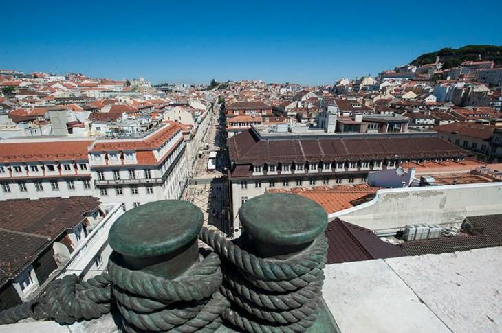 Miradouro do Arco da Rua Augusta, em Lisboa