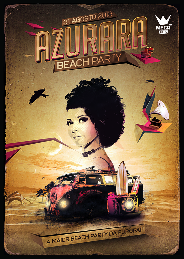 Cartaz AZURARA BEACH PARTY front