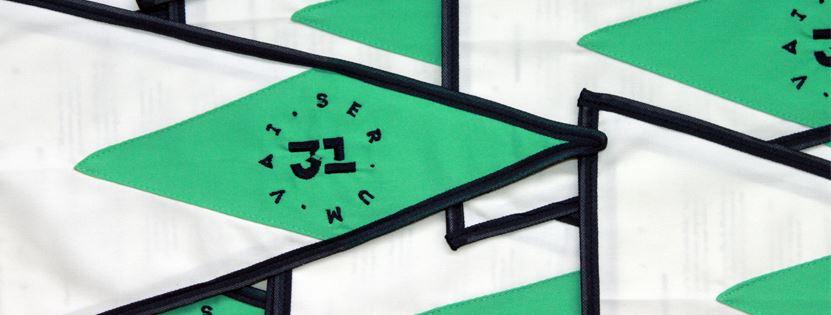 VAI SER UM 31 - logo na bandeira náutica