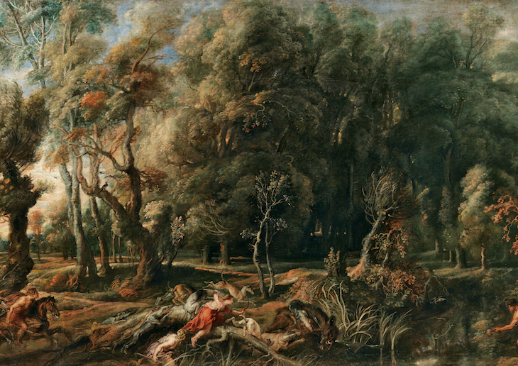 Peter Paul Rubens - Atalanta e Meleagro Caçando o Javali de Cálidon