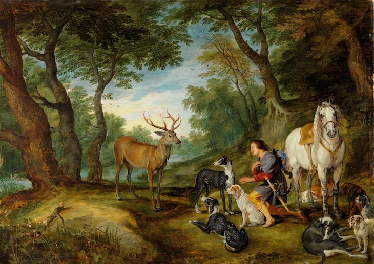 Peter Paul Rubens e Jan Brueghel O VELHO - Visão de Santo Huberto