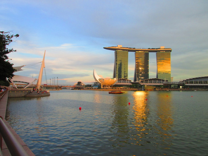 Pôr do sol Marina Bay Sands