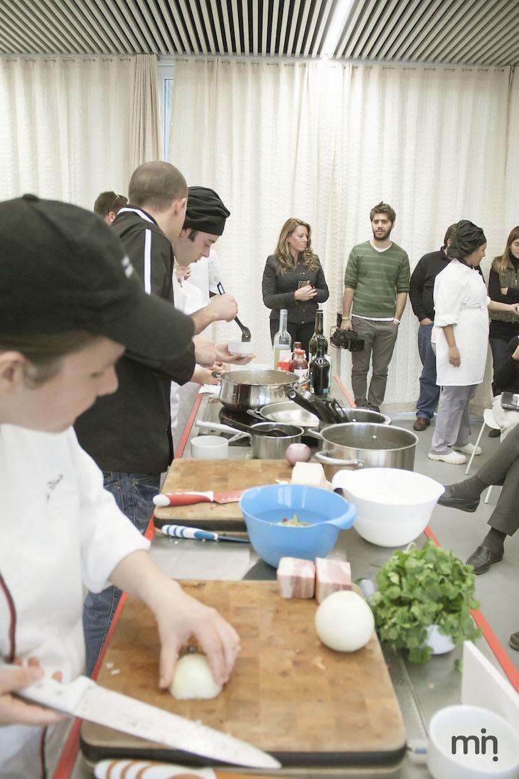 Receitas de risotos, pelo chef Miguel Teixeira, no evento Viaje Comigo