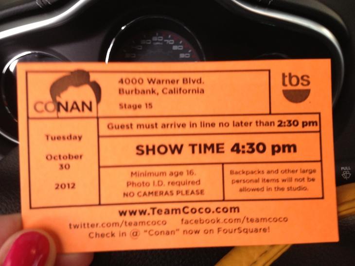 Conan O'Brien Show, Los Angeles