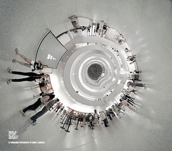 Interior do Hall no Guggenheim Little Planet (não disponível em 360 e foto inédita)