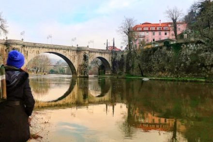 Reflexo da ponte de Amarante- Portugal © Viaje Comigo