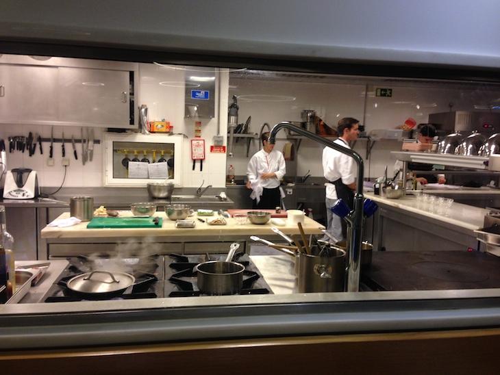 Vista para a cozinha