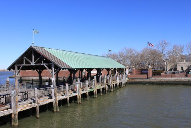 Chegada a Liberty Island - Estátua da Liberdade