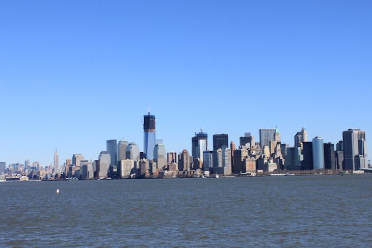Estátua da Liberdade - vista para Manhattan