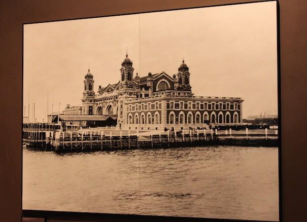 Imagem antiga de Ellis Island