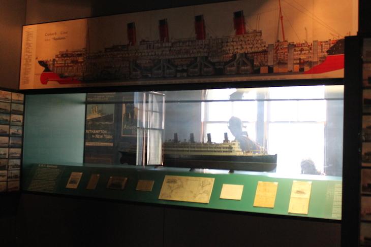 Titanic em miniatura, em exposição, Ellis Island