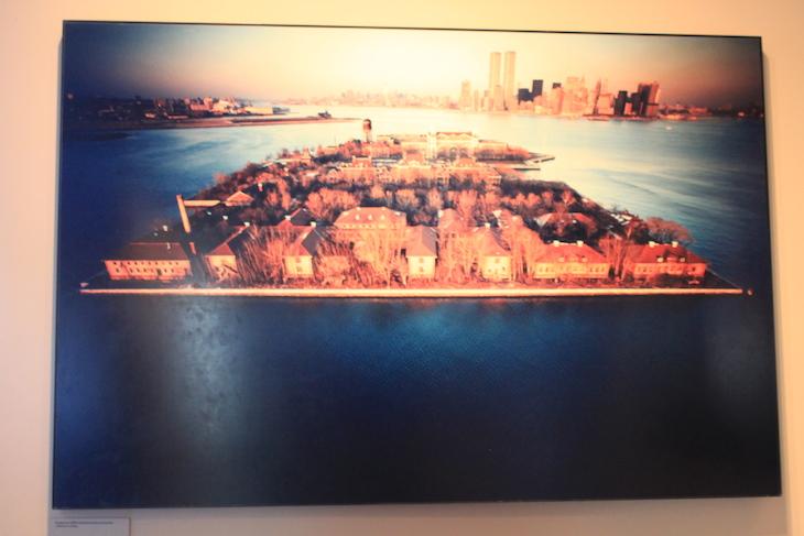 Foto aérea de Ellis Island