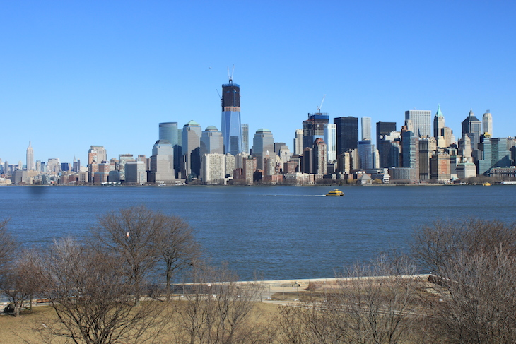 Vista para Manhattan, de Ellis Island