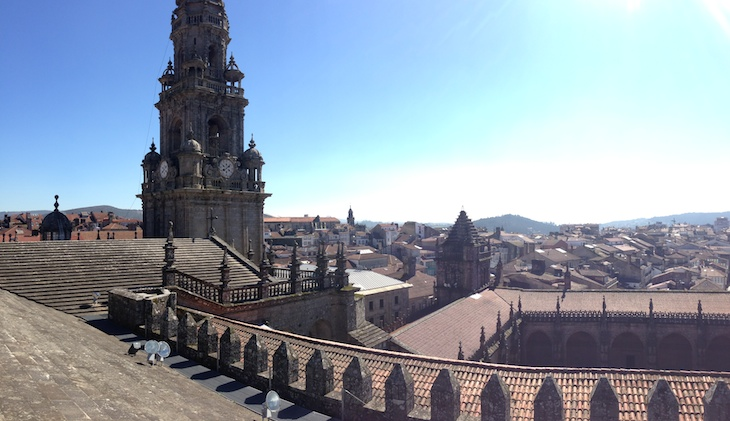 Catedral Santiago - vista do telhado