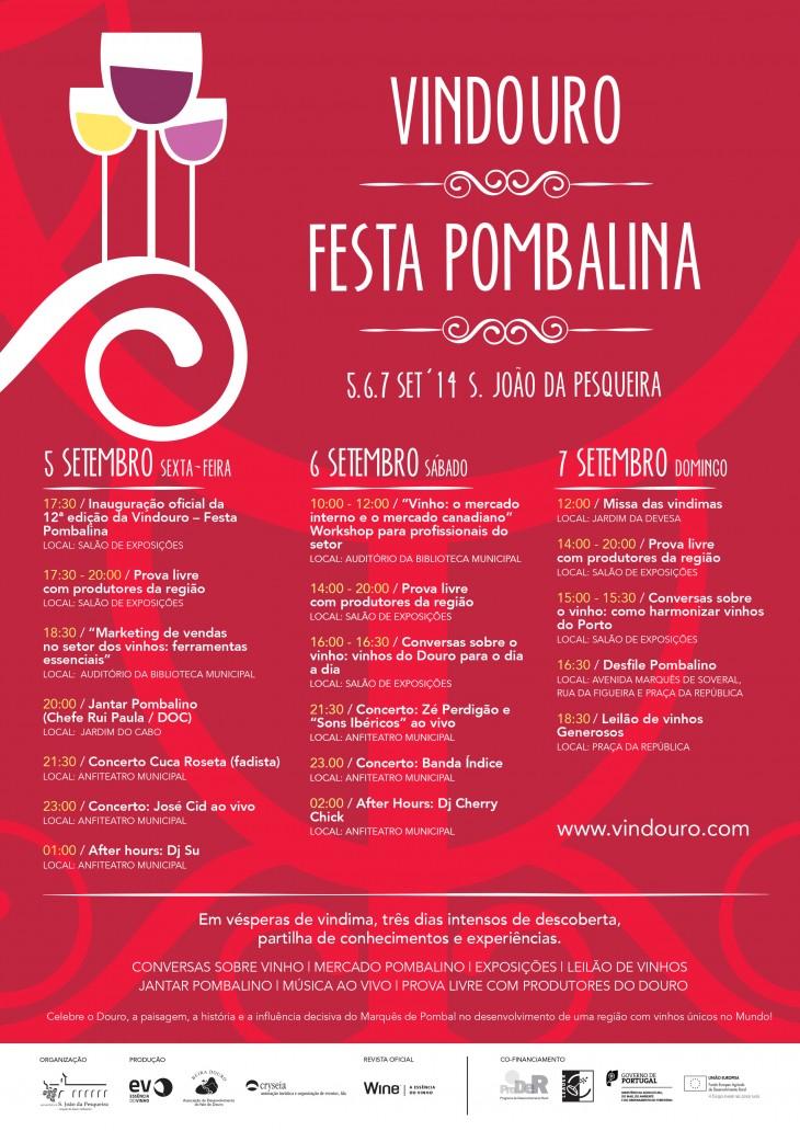 Programa completo da Vindouro - Festa Pombalina