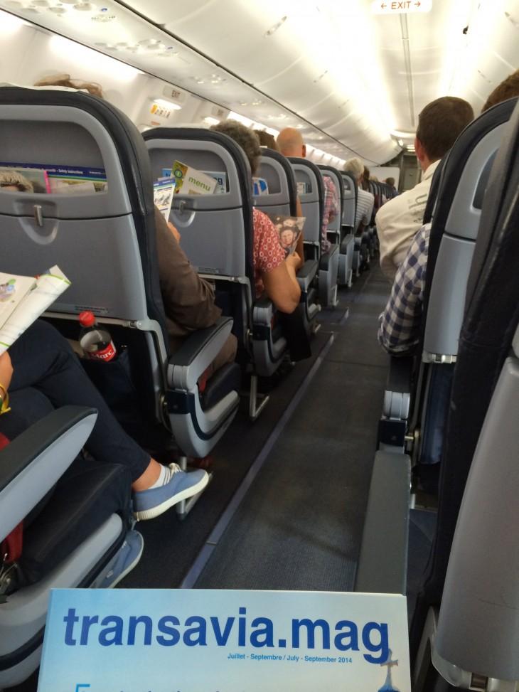 A bordo da Transavia