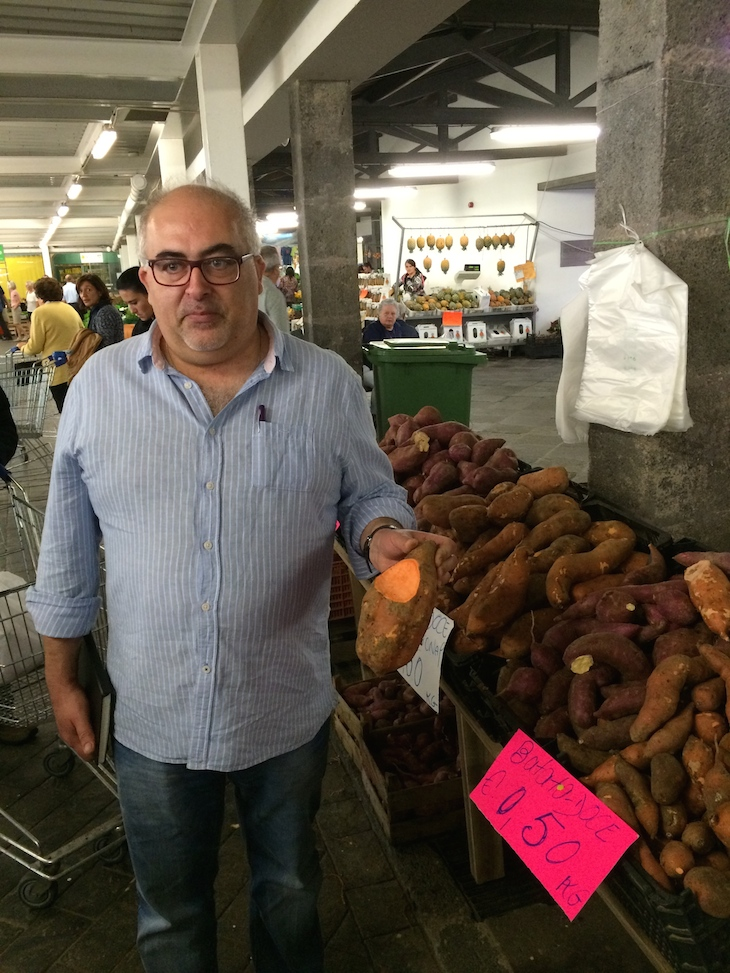 Chef Álvaro Lopes no Mercado Ponta Delgada