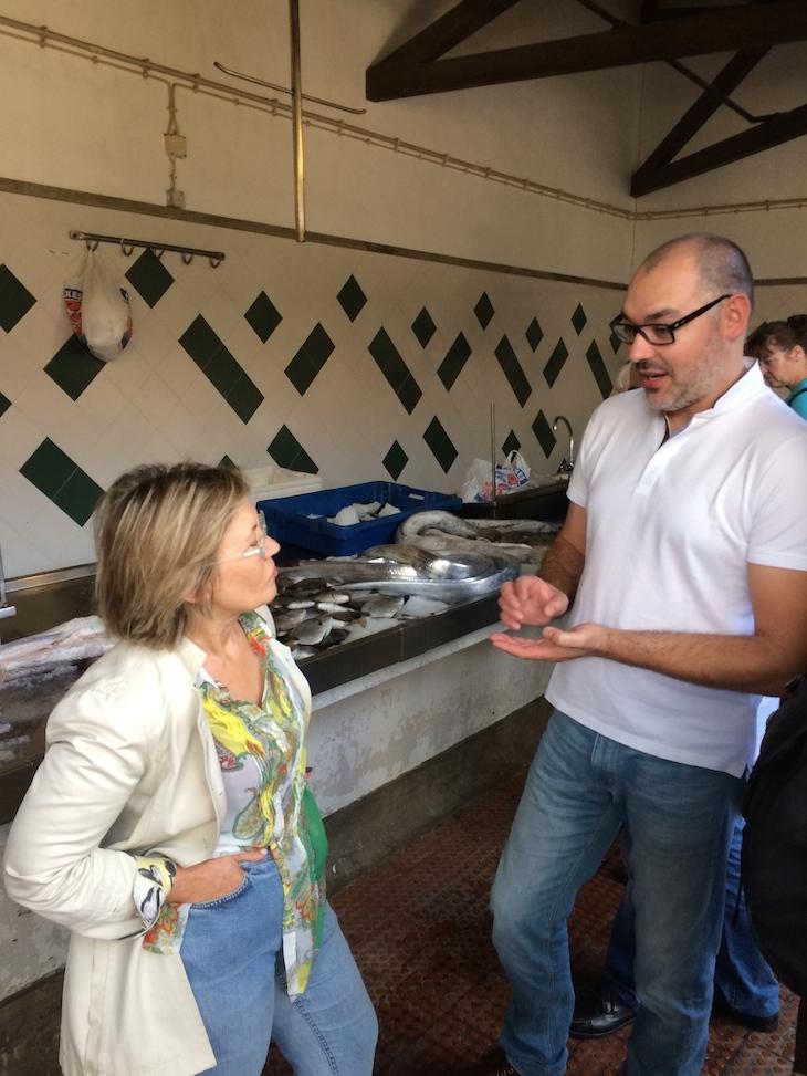 Chefs Justa Nobre e Renato Cunha no Mercado Ponta Delgada