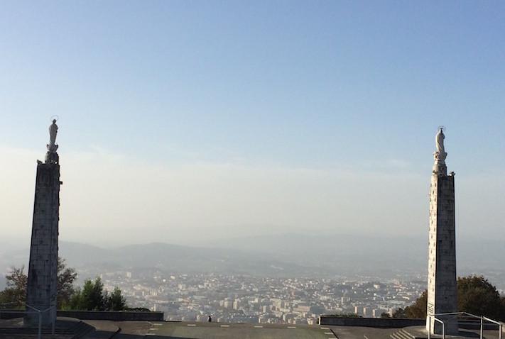 Vista do Santuário do Sameiro para a cidade de Braga