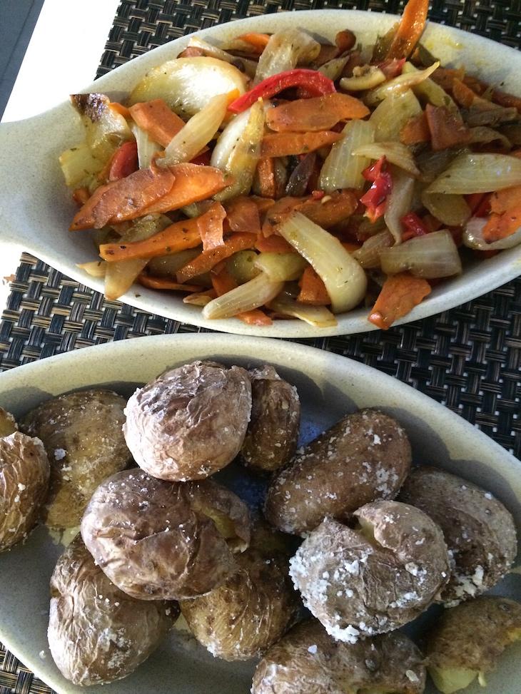 Legumes e batatas no Convés