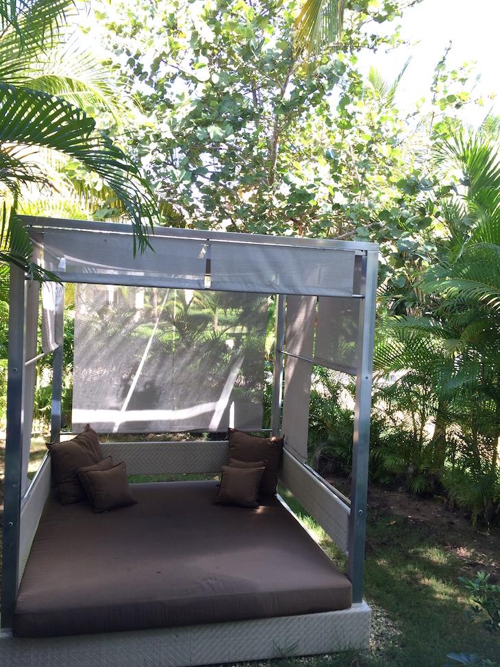 Na varanda do quarto do Meliã Caribe Tropical, Bavaro
